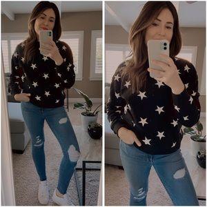 🆕Star print crew neck sweater